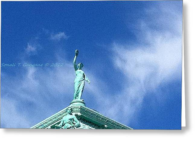 Aim High Greeting Cards - Touching Skies Greeting Card by Sonali Gangane
