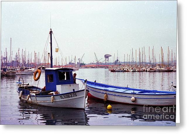 Long Ago Greeting Cards - Toulon France 1981 Greeting Card by Thomas R Fletcher