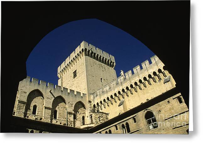 Bastion Greeting Cards - Tour du Palais des Papes en Avignon. Greeting Card by Bernard Jaubert
