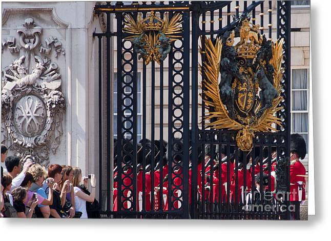 Tourists at Changing of the guards Greeting Card by Andrew  Michael