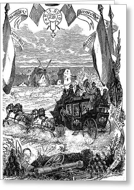 1870s Greeting Cards - TOURISTS CARRIAGE, c1875 Greeting Card by Granger