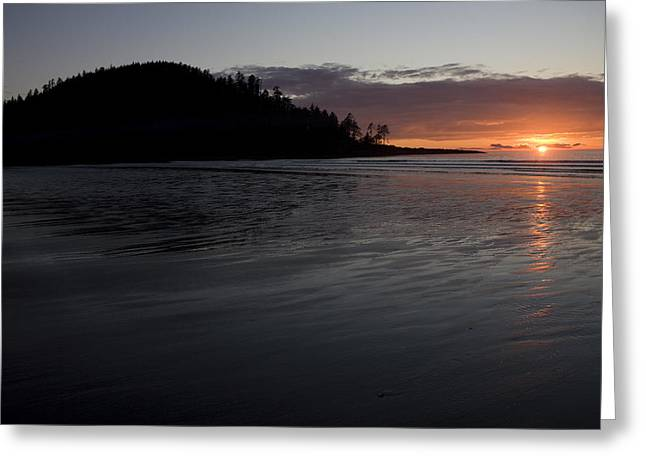 Queen Charlotte Islands Greeting Cards - Tow Hill And North Beach At Sunset Greeting Card by Taylor S. Kennedy