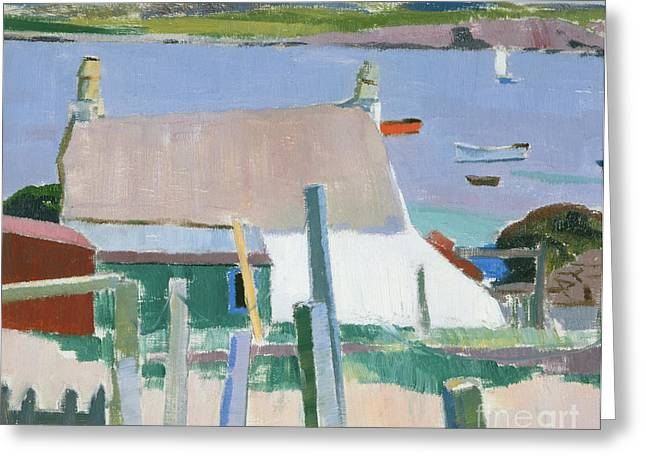 Rustic House Greeting Cards - Towards Mull Greeting Card by Francis Campbell Boileau Cadell