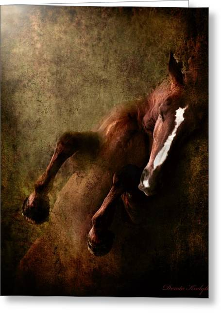 Equestrian Digital Art Greeting Cards - Towards The Light Greeting Card by Dorota Kudyba