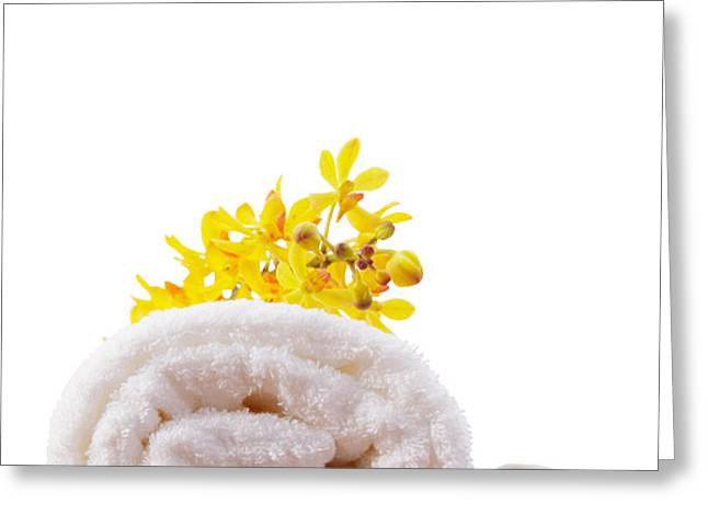 towel roll Greeting Card by ATIKETTA SANGASAENG