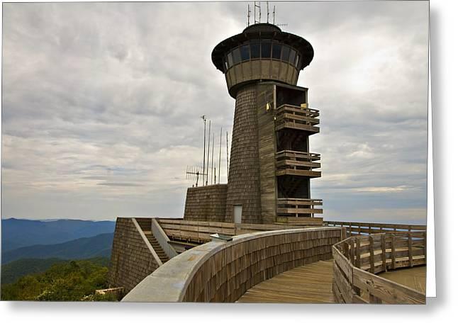 Susan Leggett Greeting Cards - Tower at Brasstown Bald Greeting Card by Susan Leggett