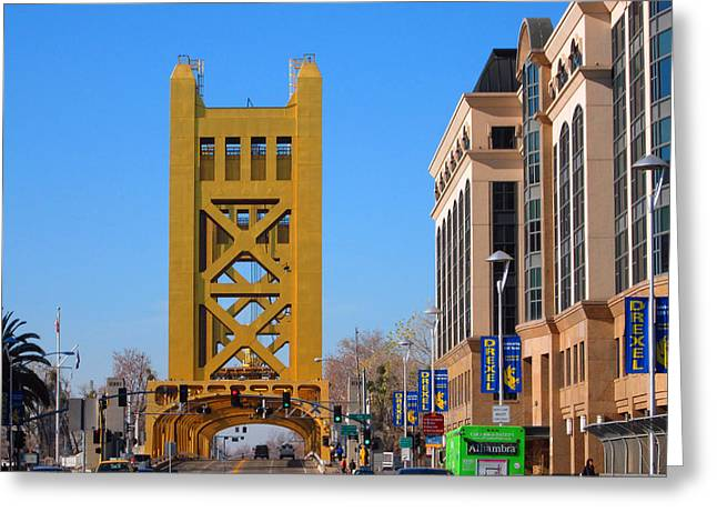 Historic Bridge Photographs Digital Greeting Cards - Tower Bridge 4 Greeting Card by Barry Jones