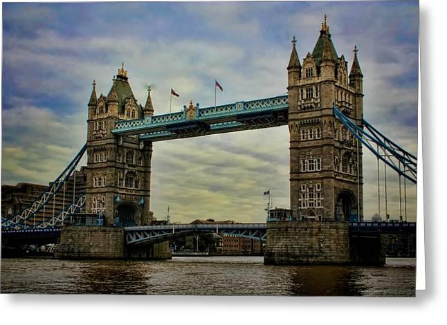 British Royalty Greeting Cards - Tower Bridge London Greeting Card by Heather Applegate
