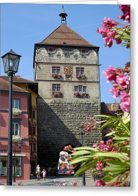 Mediaeval Greeting Cards - Tower in old town Rottweil Germany Greeting Card by Matthias Hauser