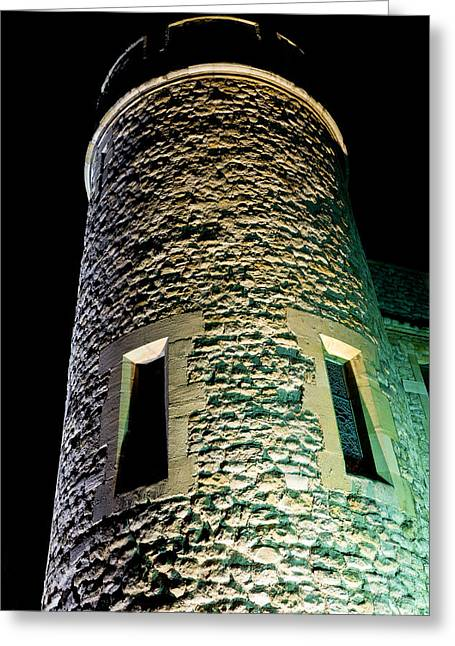 Medeival Greeting Cards - Tower of London at Night Greeting Card by David Pyatt