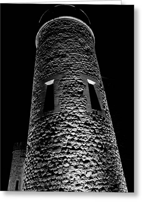 Medeival Greeting Cards - Tower of London Black and White Image Greeting Card by David Pyatt