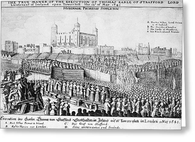 Beheading Greeting Cards - Tower Of London: Execution Greeting Card by Granger