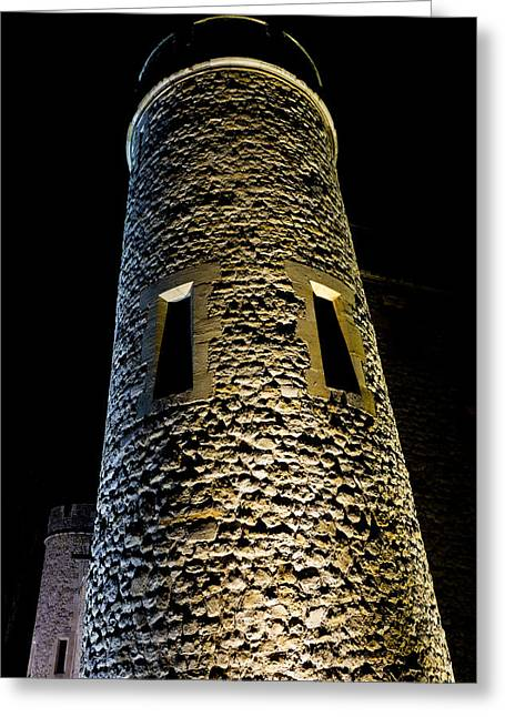 Medeival Greeting Cards - Tower of London Night view Greeting Card by David Pyatt