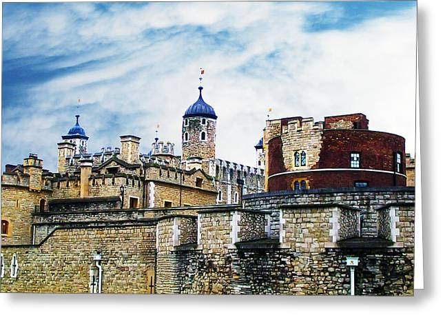 Beheading Photographs Greeting Cards - Tower of London Two Greeting Card by Jeff Stein