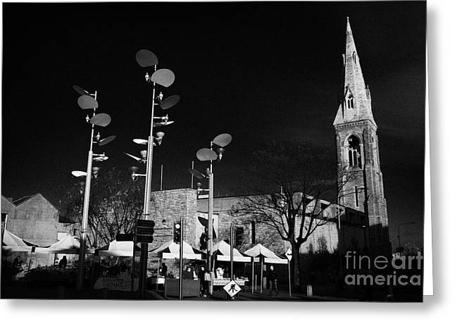 National Building Museum Greeting Cards - Town Centre And The Mariners Church Now The National Maritime Museum Dun Laoghaire Dublin Greeting Card by Joe Fox