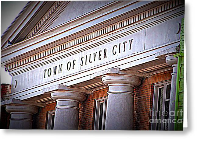 Silver City Greeting Cards - Town of Silver City New Mexico Greeting Card by Susanne Van Hulst