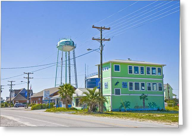 Topsail Island Greeting Cards - Town of Topsail Water Tower Greeting Card by Betsy A  Cutler