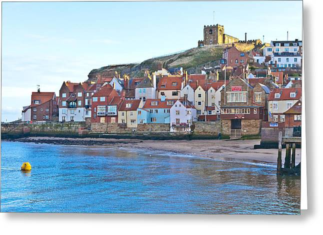Abbey Giclee Print Greeting Cards - Town on a hill Greeting Card by Gary Finnigan