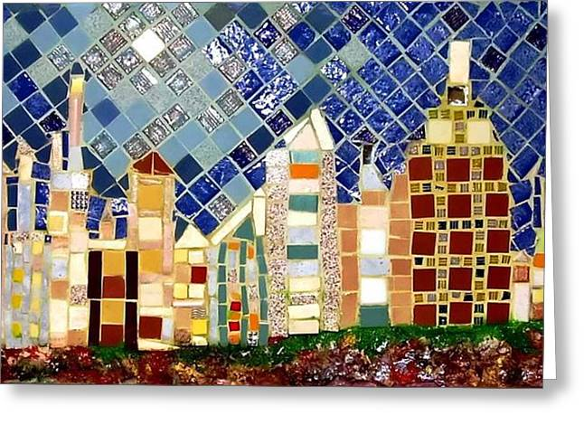 Town Reliefs Greeting Cards - Town Periphery Greeting Card by Roberto Lacentra