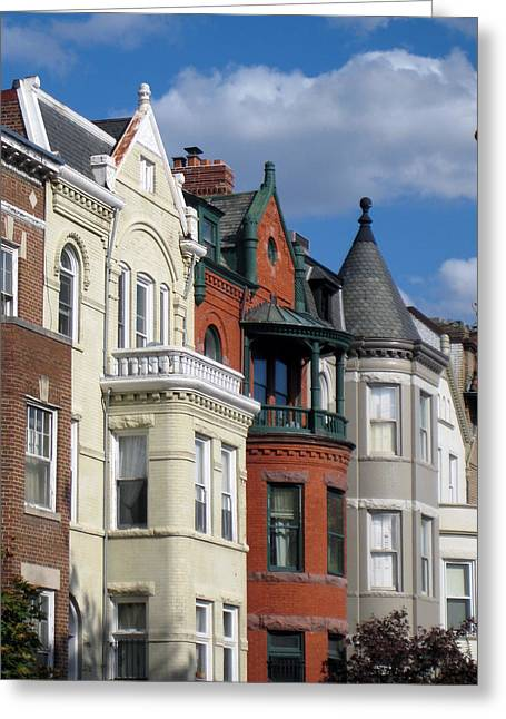Best Sellers -  - Lady Washington Greeting Cards - Townhouses Greeting Card by Sean Owens