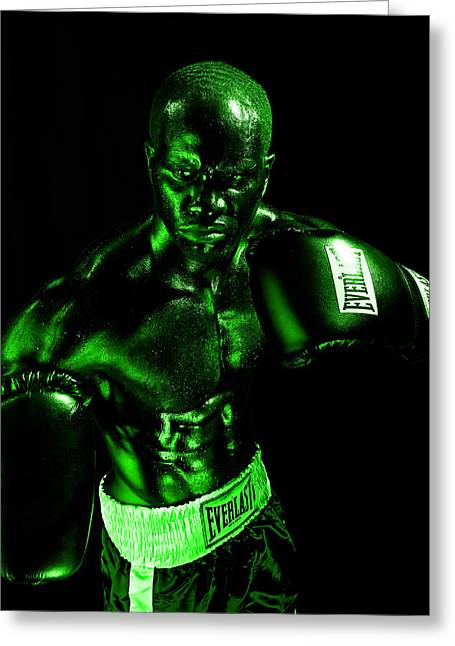 Boxer Greeting Cards - Toxic Boxer Greeting Card by Val Black Russian Tourchin