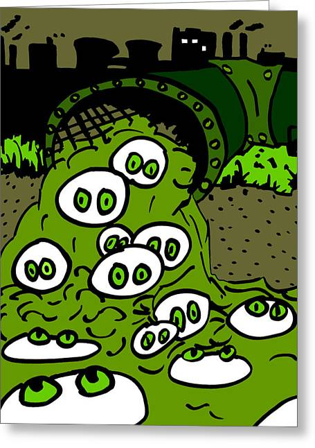 Cronkles Greeting Cards - Toxic Cronkle Greeting Card by Jera Sky