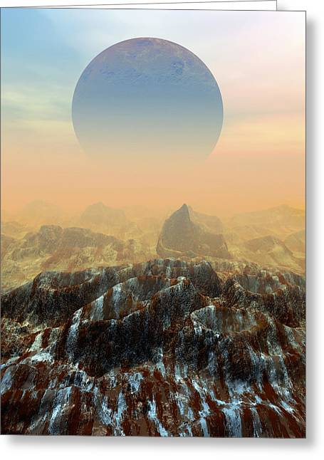 Post Disaster Greeting Cards - Toxic Planet Greeting Card by Victor Habbick Visions