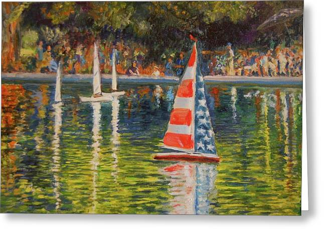 Toy Boat Greeting Cards - Toy Boats Greeting Card by Barbara C Thompson
