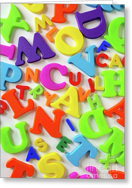 Color Colorful Greeting Cards - Toy Letters Greeting Card by Carlos Caetano