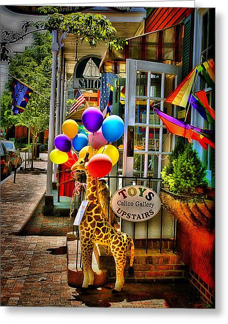 Toy Shop Greeting Cards - Toy StoreFront Greeting Card by Trudy Wilkerson