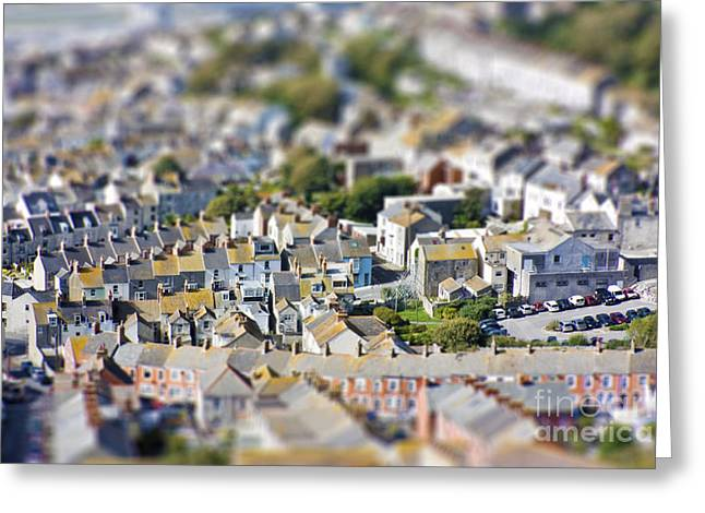 Miniature Effect Greeting Cards - Toy Town view Greeting Card by Simon Bratt Photography LRPS