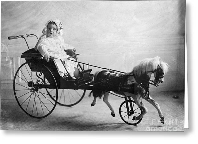 Evalyn Walsh Greeting Cards - Toys: Horse Carriage, 1911 Greeting Card by Granger