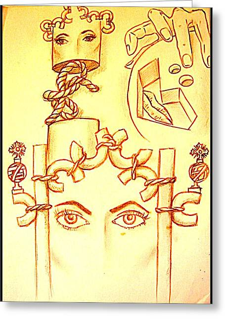 Remains Of Images Greeting Cards - Traces Of Dreams Greeting Card by Paulo Zerbato