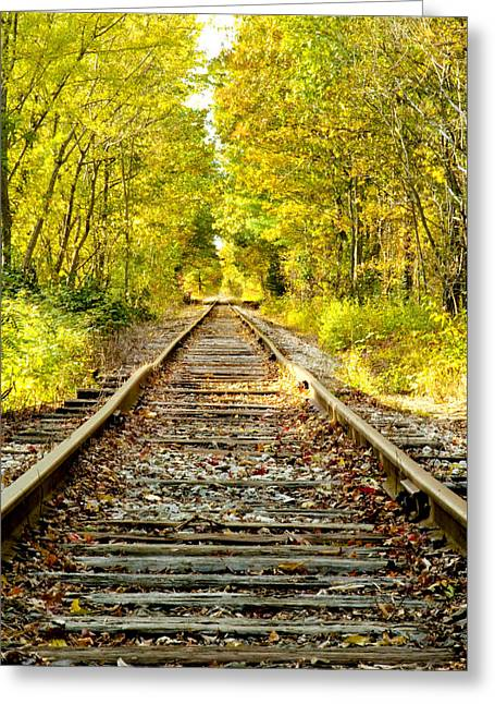 Best Sellers -  - Concord Greeting Cards - Track to Nowhere Greeting Card by Greg Fortier