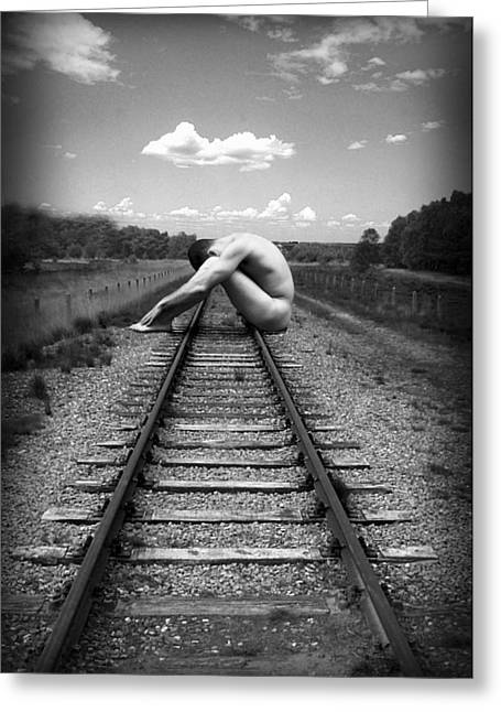 Nude Photos Greeting Cards - Tracks Greeting Card by Chance Manart