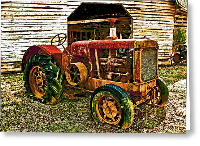 Julian Bralley Greeting Cards - Tractor Greeting Card by Julian Bralley