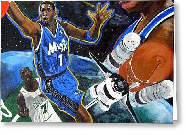 Tracy McGrady Greeting Card by Jeff Gomez