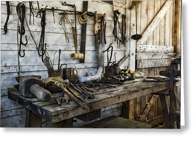 Blacksmiths Greeting Cards - Trade Tools Greeting Card by Peter Chilelli