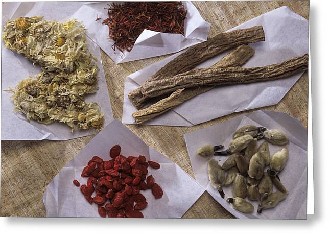 Yang Greeting Cards - Traditional Chinese Medicines Greeting Card by Sheila Terry