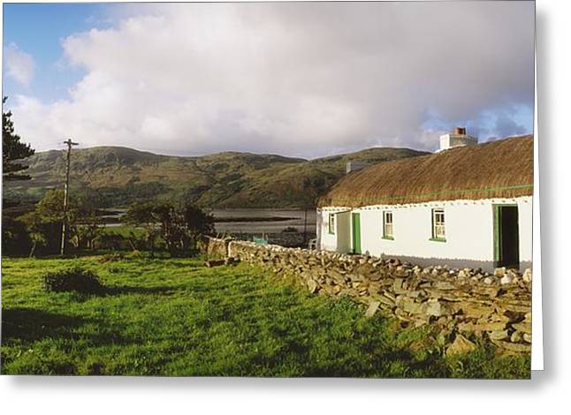 Country Cottage Greeting Cards - Traditional Cottage, Near Lough Rus Greeting Card by The Irish Image Collection