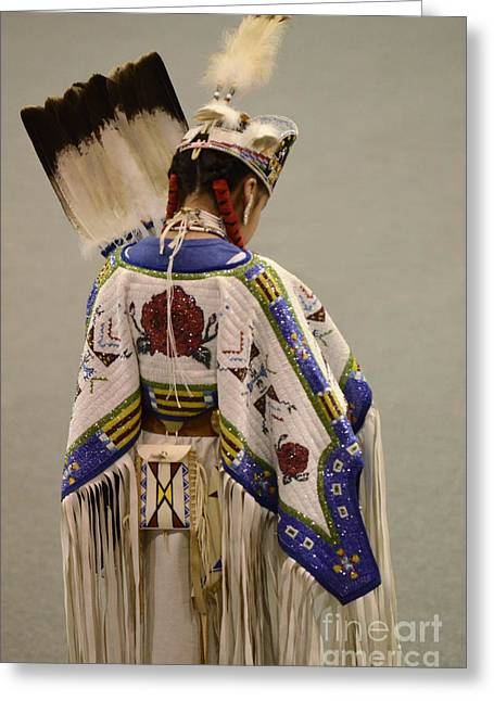 Fancy-dancer Greeting Cards - Traditional Dancer 1 Greeting Card by Bob Christopher