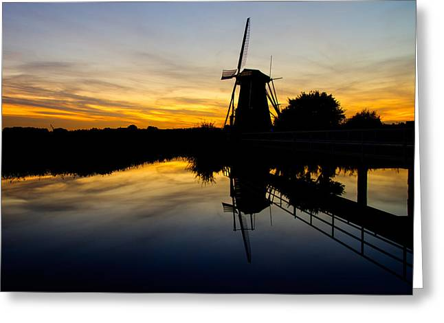 Silhouette Art Greeting Cards - Traditional Dutch Greeting Card by Chad Dutson