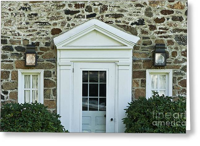 Stone House Greeting Cards - Traditional Field Stone House Greeting Card by John Greim