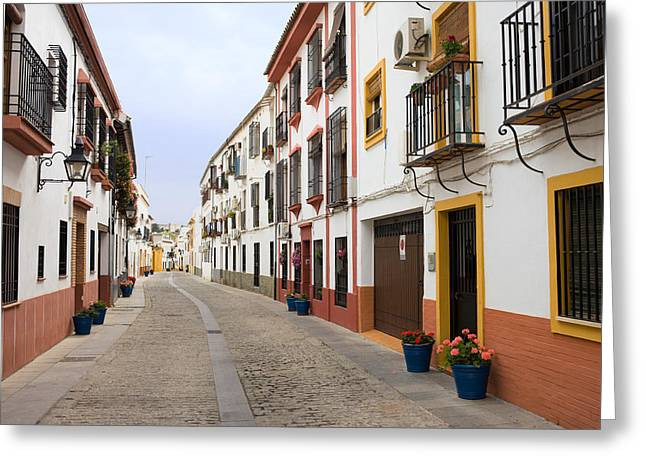 Cordoba Greeting Cards - Traditional Houses in Cordoba Greeting Card by Artur Bogacki