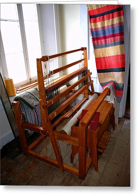 Usa Tapestries - Textiles Greeting Cards - Traditional Weavers Loom Greeting Card by LeeAnn McLaneGoetz McLaneGoetzStudioLLCcom