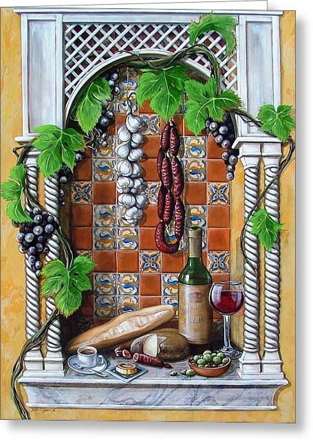 Rioja Greeting Cards - Traditions Greeting Card by Joan Garcia
