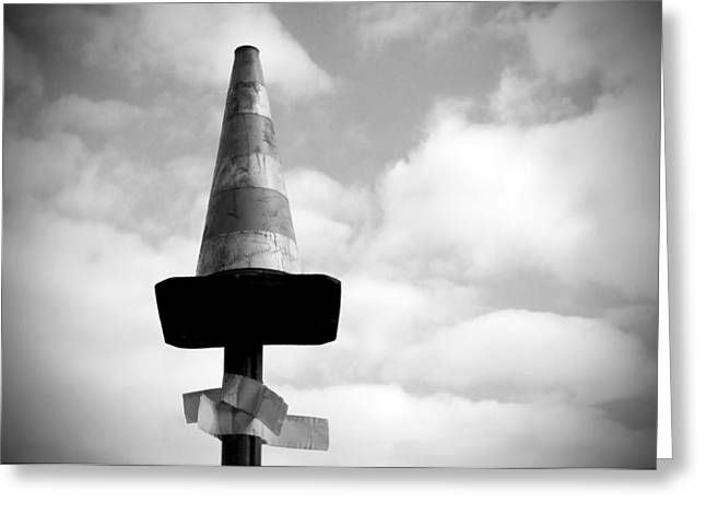 Absurd Surreal Greeting Cards - Traffic cone Greeting Card by Fabrizio Troiani