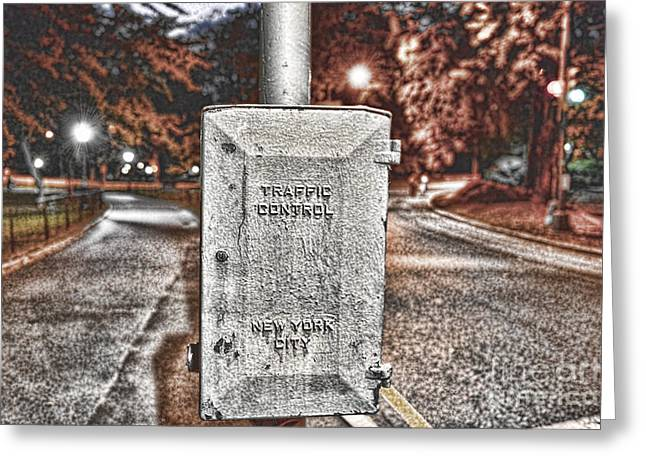 Traffic Control Box Greeting Card by Paul Ward