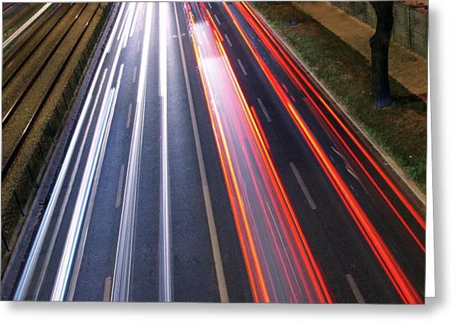 Traffic Lights Greeting Card by Carlos Caetano