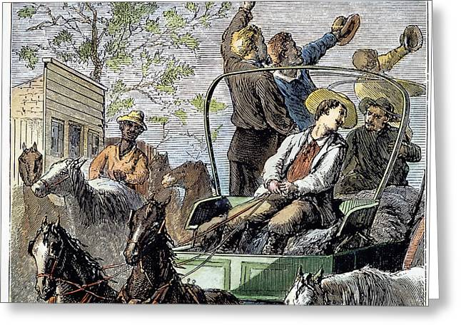 1874 Greeting Cards - Trail Drivers, 1874 Greeting Card by Granger